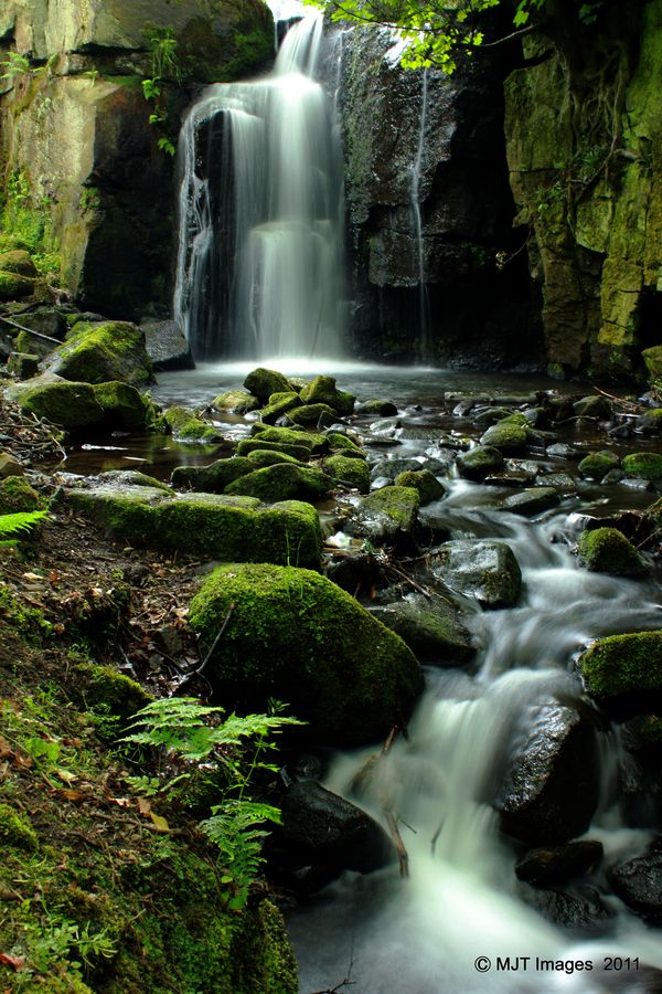 Lumsdale Falls, Peak District, Derbyshire, England