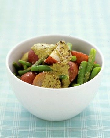 ... potato salad. Green beans add color and a nutritional boost to this