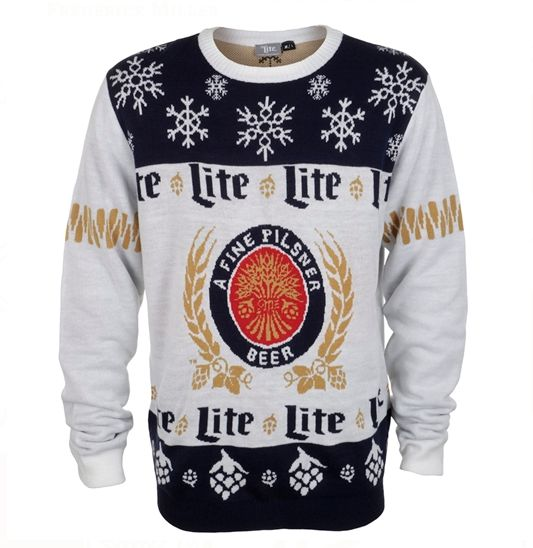 Miller Lite Designed the Ugly Sweater to End All Ugly Sweaters  - Delish.com #holidays