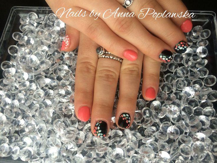 Gel polish manicure nail art