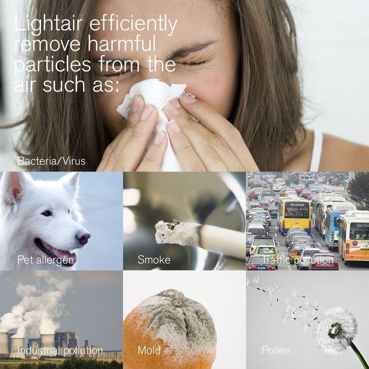 Luchtreiniger bij allergie, hooikoorts, rook en verkeer en industrie.