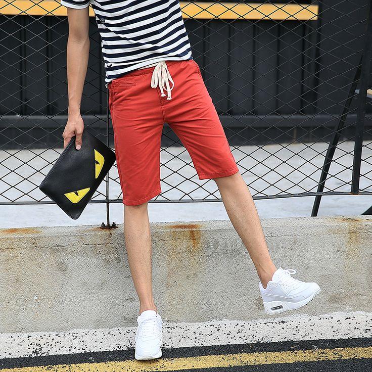 100% Cotton Plus Size Mens Casual Soft Chino Shorts Males Multi Colours Beach Cargo Capri Shorts M-4XL 668