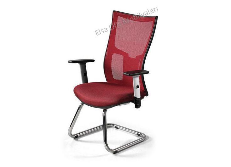 Çağrımızın trend koltuklarından fileli ofis koltuğu. Modern, terletmez, ayarlı kolları bulunmaktadır. Esnek metal krom u ayaklı fileli misafir koltuğu.
