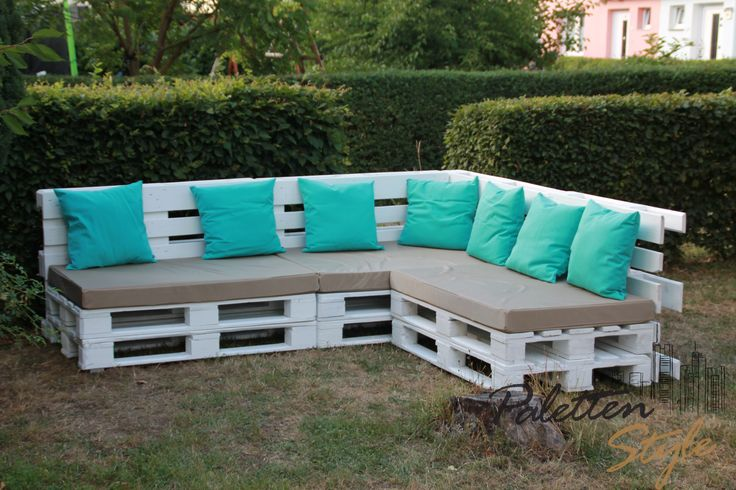 Gartenmöbel, Möbel aus Europaletten, Möbelunikat, Wohnzimmermöbel, Möbel, Sitzmöbel, Couch, Sofa  Erhältlich auf www.paletten-style.de(Sofa Diy Ideas)