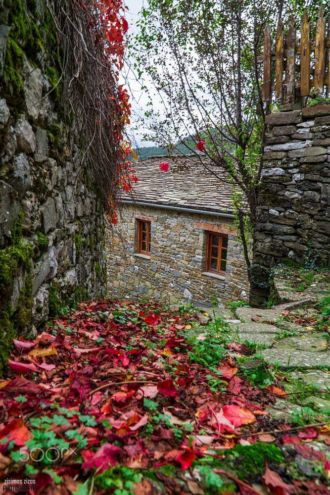 Mikro Papigo village, Epirus Greece
