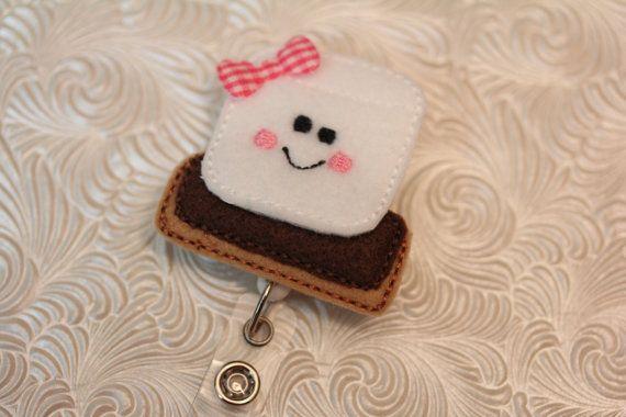 adorable smore  professional nurse badge holder  by DefinitelyYou