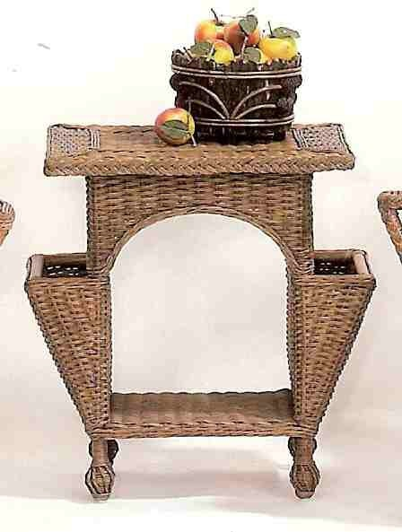 Wicker Eastern Shore Reading Table