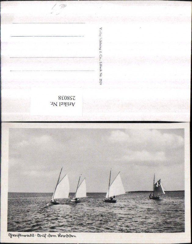 Luxury  Greifswald Segelboote Ansichtskarten Deutschland Mecklenburg Vorpommern Landkreis Vorpommern Greifswald