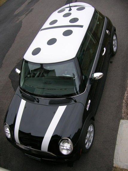 MINI Madness - Domino Style Mini Cooper ♥ App for your MINI http://Carwarninglight.com