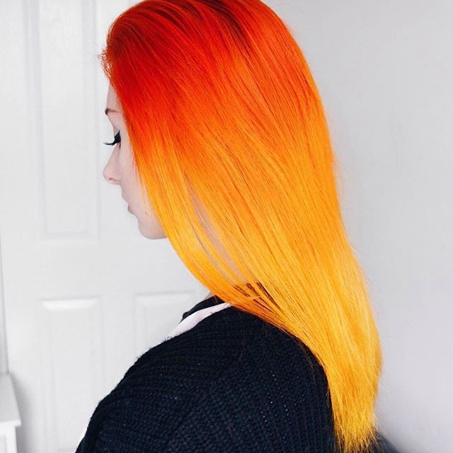 Lunar Tides Orange DIY Ombre kit for fiery look on Caroline Orr