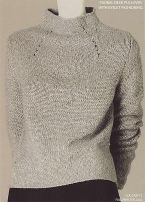 Ravelry: RobynRedBird's Funnel Neck Pullover Isn't this an Adrienne Vittidini pattern?
