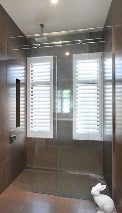 Euroglide Inline Frameless Shower Screen