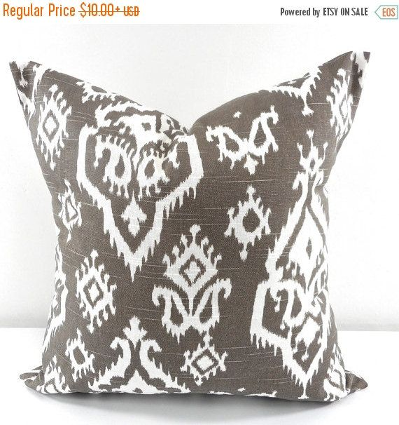 On Sale Brown pillow Cover Raji White and by TwistedBobbinDesigns