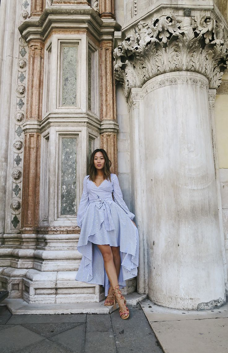 Exploring Burano and Murano in Venice was high up on my list and I specifically packed this striped Caroline Constas Lena dress for my trip to Venice. I wore it with a …