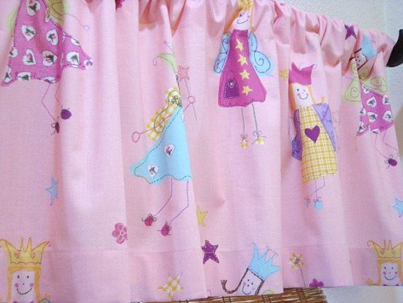 52X15 Laura Ashley Princess Fairy Unlined Pink Childrens Curtain Valance