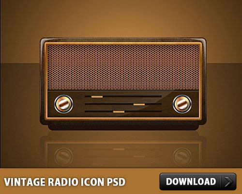 Download Free Vintage Radio Icon PSD at Downloadpsd.
