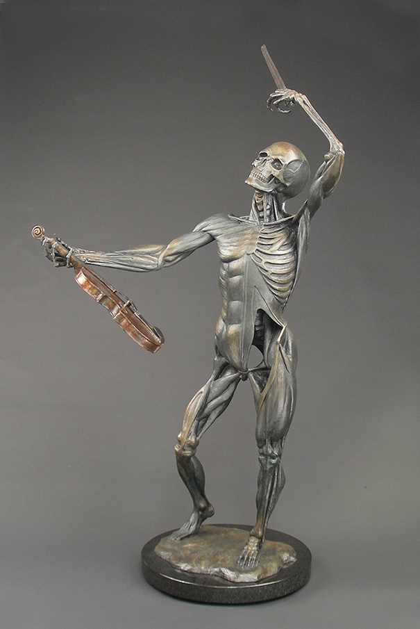 """Life's a Dance"", in a graphite patina; a figurative fine art bronze sculpture celebrating the dance of life, by Steven Knight. Find this and more beautiful fine art at www.artbyknight.com"
