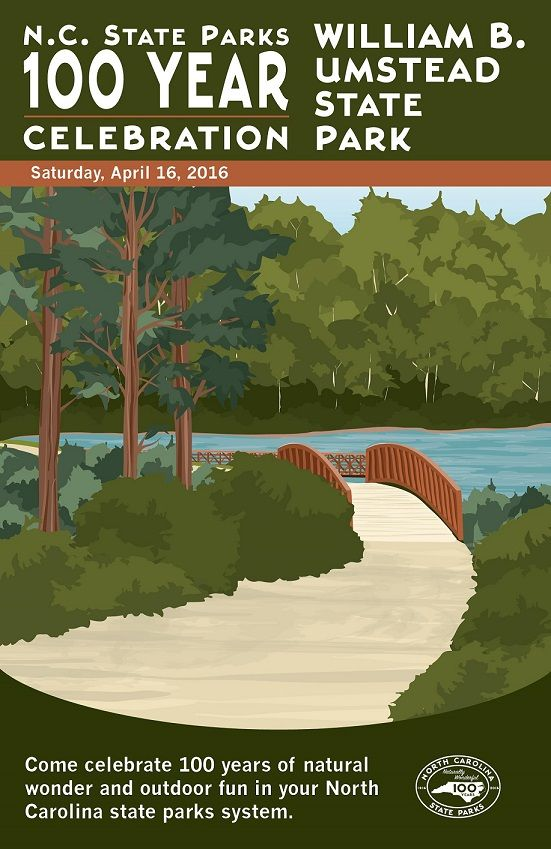 William B Umstead State Park Commemorative Poster