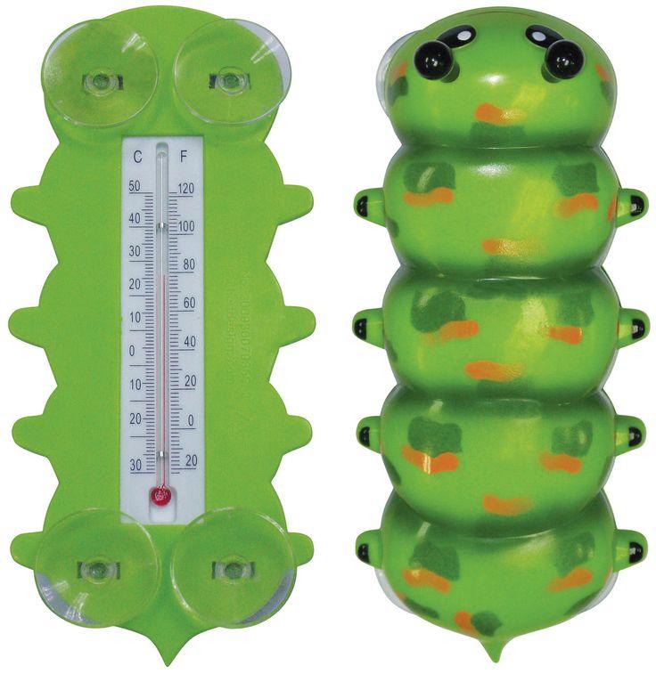 Caterpillar Window Thermometer - Seasons Unlimited