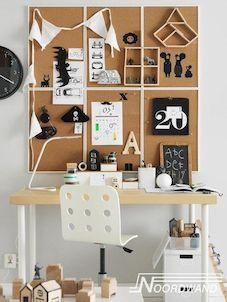 kurk prikbord kinderkamer kantoor behang kurk noordwand