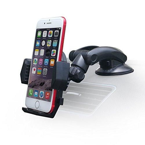 Dashboard Phone Mount [Ultimate Flexible], APPS2Car Car Sticky Dash Mount Windshiled Cell Phone Holder Suction Cup Mobile Phone Mount for iPhone, Samsung Phone, Nexus Phone, OnePlus, Android Phone