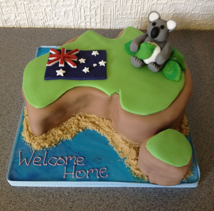 Australia welcome home cake cake creations pinterest for Welcome home cake decorations