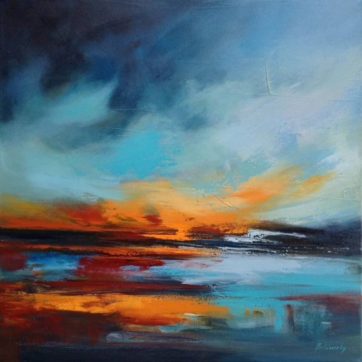 "Saatchi Art Artist Beata Belanszky-Demko; Painting, ""Warming Lake"" #art"