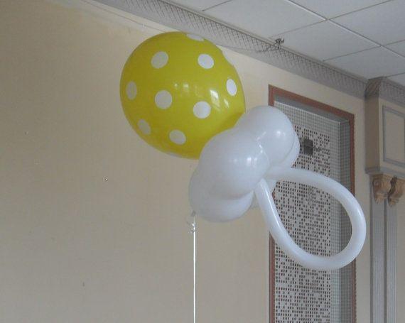 Bebé ducha centro de mesa globo por PartyDecoTeresa en Etsy