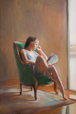 """Saatchi Art Artist Natalia Baykalova; Painting, """"""""Near the window"""""""" #art"""