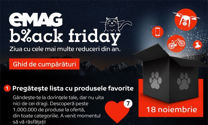 Mega reduceri la eMag de Black Friday. Profita de promotiile zilnice chiar acum si cumpara online la cel mai mic pret.