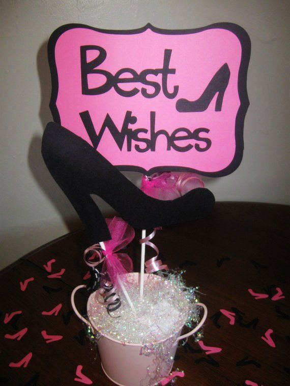 High Heel Centerpiece Table Decoration For Bridal Shower