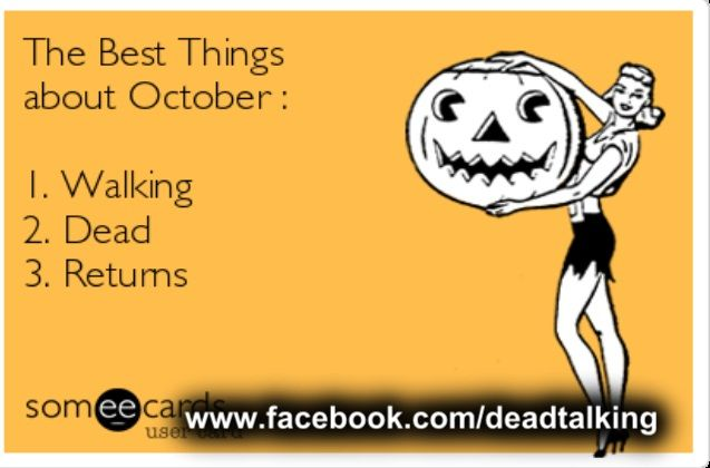 Yay, The Walking Dead is back soon!