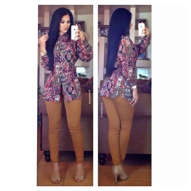 Mi traje de chinita 😅👘☺️ #workootd  Top: Thrifted Pants: H&M Heels: Payless