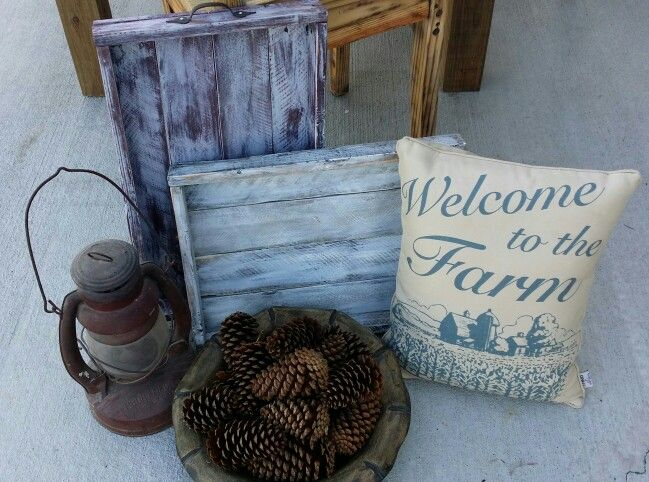 rustic pallet furniture. rustic pallet trays chalk painted furniture n