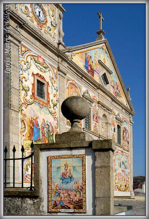Amazing hand painted azulejos panels (tiles) at Santa Maria da Válega church, Portugal