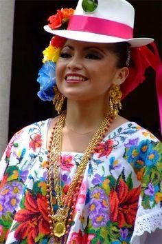 vestido tradicional de yucatan - Google Search