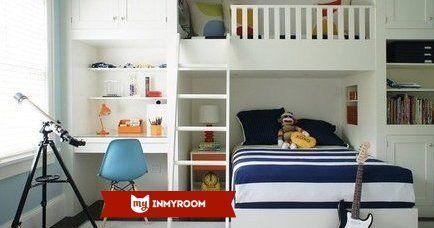 Оформление детской для двоих детей может стать непростой задачей, ведь нужно разместить не только спальные места, но и письменные столы, шкафы и оставить место для игр