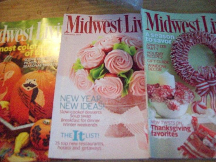 lot of 3 midwest living magazine back issues novdec feb sept
