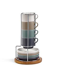 Set van 4 espressokopjes en schoteltjes,