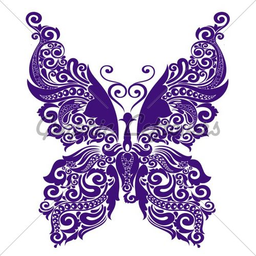 PURPLE! butterfly tattoo want it cross stitched