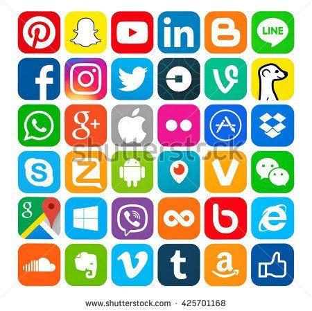 لون ابيض,لون ازرق,حرفS,شكل بيضاوي Media logo, App