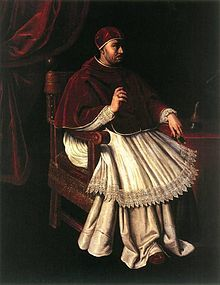 Pope Leo X (1513-1521), formerly Giovanni di Lorenzo de' Medici (1475-1521). Became head of the Medici family after Piero's death. He was the youngest Cardinal ever. He was faced with Martin Luther in Germany. He made many enemies, also amongst cardinals. Spend more money than he had.