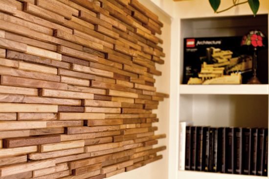 HvH Interiors: Wood Wall Tiles By Everitt & Schilling Tile - Wood Tile Wall WB Designs