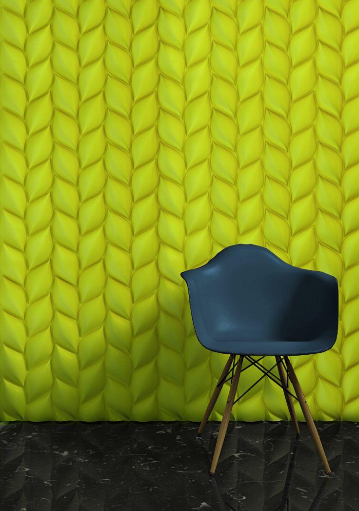 3d wall panel treccia by 3d surface design jacopo cecchi romano zenoni