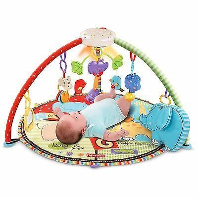 Baby Educational Portable Mobile Tummy Time Activity Play Mat Gym