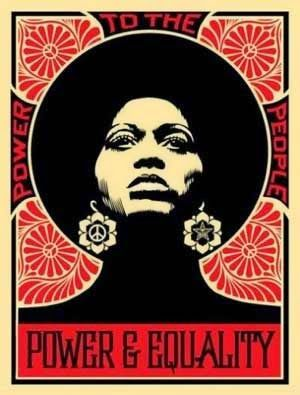 Shepard Fairey's image of Angela Davis, a key member of the Black Panther group and other civil rights movements. Graffiti, African American Art, African Art, Art Afro, Street Art, Et Tattoo, Foto Poster, Kunst Poster, Political Art