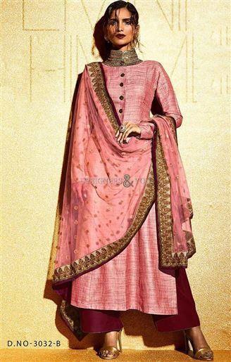 Designer Pakistani straight suit salwar kameez with latest patterns