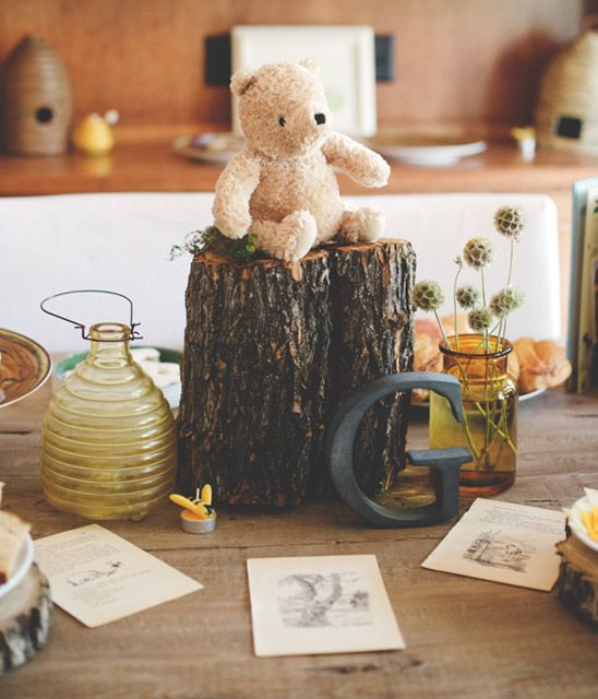 Classic Winnie the Pooh Themed Birthday Party- I could do something like this in Jack's nursery