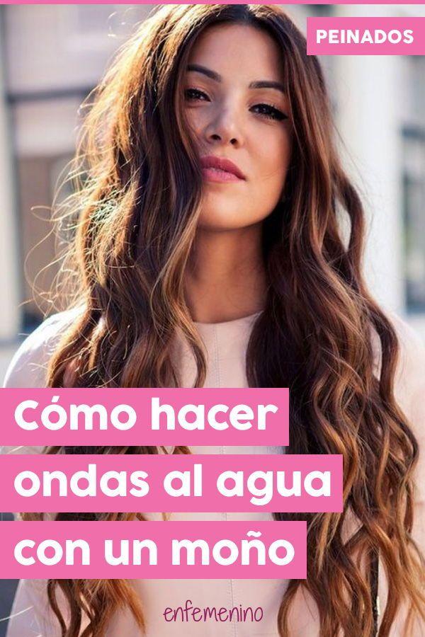 Cómo Hacer Ondas Al Agua Con Un Moño Peinados Ondas Cabello Corto Hacer Ondas Pelo Ondas En El Cabello
