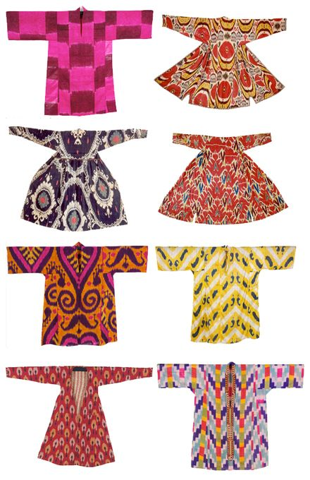 Ikat robes from central Asia     *Bohemian, gypsy, textile